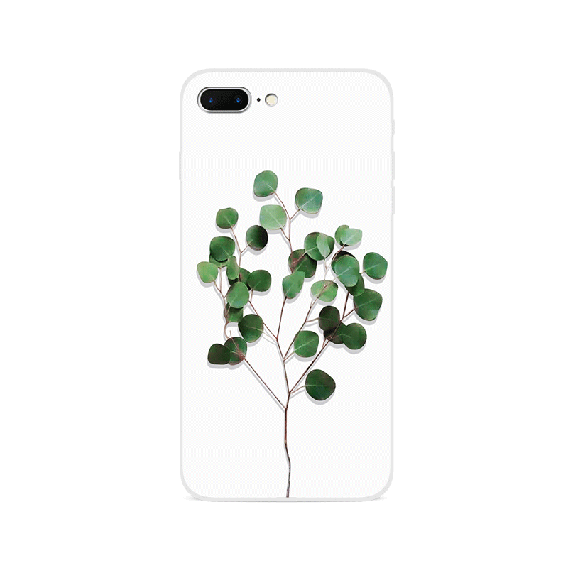 Stereoscopic green tree pattern soft TPU slim iPhone 8 case