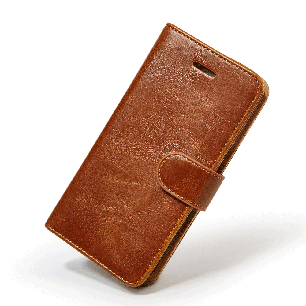 Genuine leather magnet separable wallet iPhone SE/5/5S case