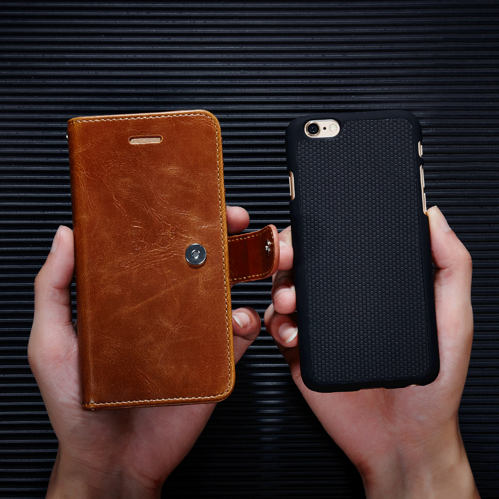 Genuine leather magnet separable wallet iPhone 6/6S case