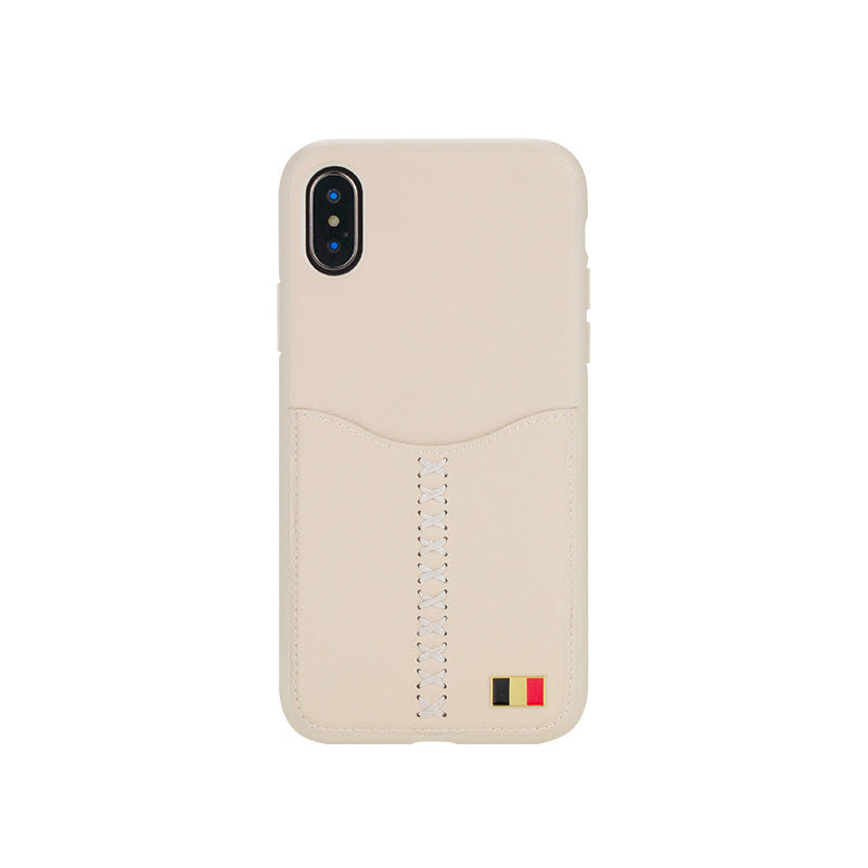 "iicase-australia_MENTOR® Fashion Leather Back Card Slot iPhone X 5.8"" Case"