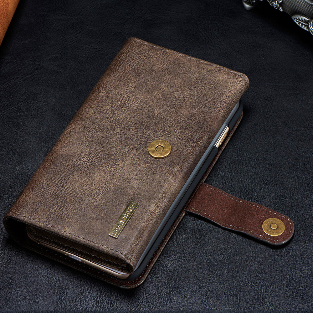 Genuine leather mega storage wallet folio iPhone 8+ Plus Case 5.5 inch