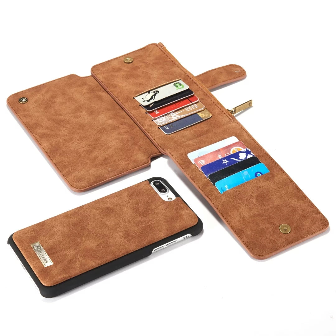 Genuine leather separable flip with 14 cards wallet iPhone 7 Case 4.7 inch