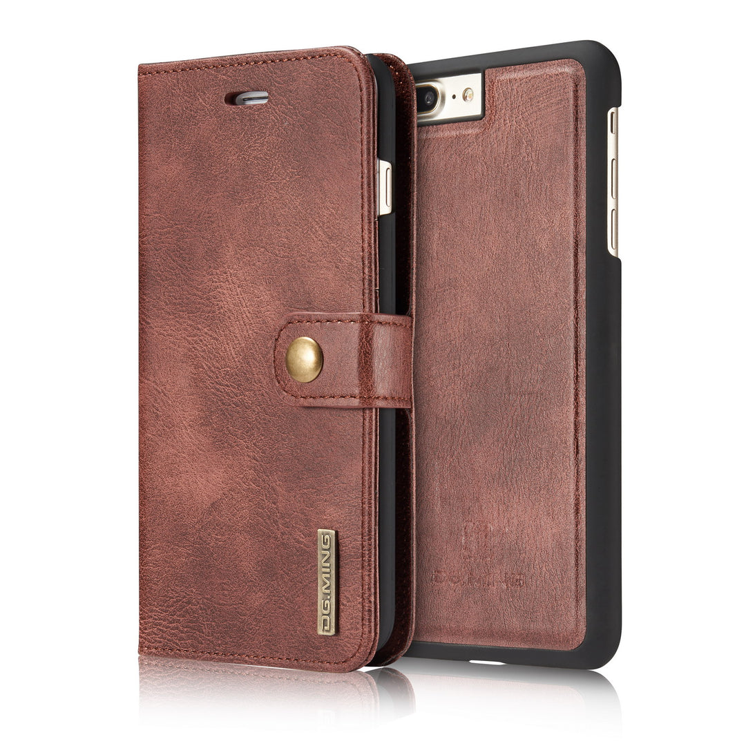 Genuine leather separable flip with magnet clasp iPhone 8+ Plus Case 5.5 inch