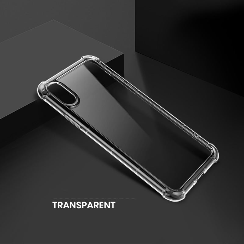 Clear military grade transparent simple iPhone XS Case 5.8""