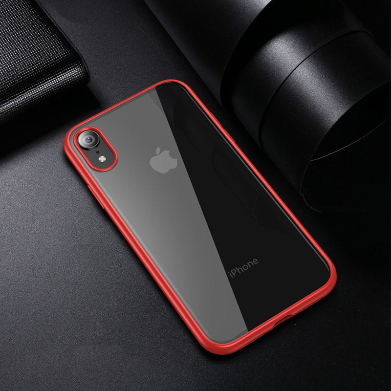 iicase-australia_Ultra slim colour bumper crystal clear back protective iPhone Case