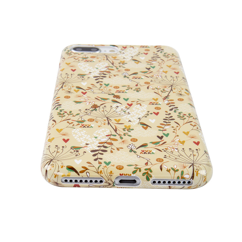iicase-australia_Soft TPU gold flower pattern with gold glitter iPhone 6+ Plus Case 5.5 inch