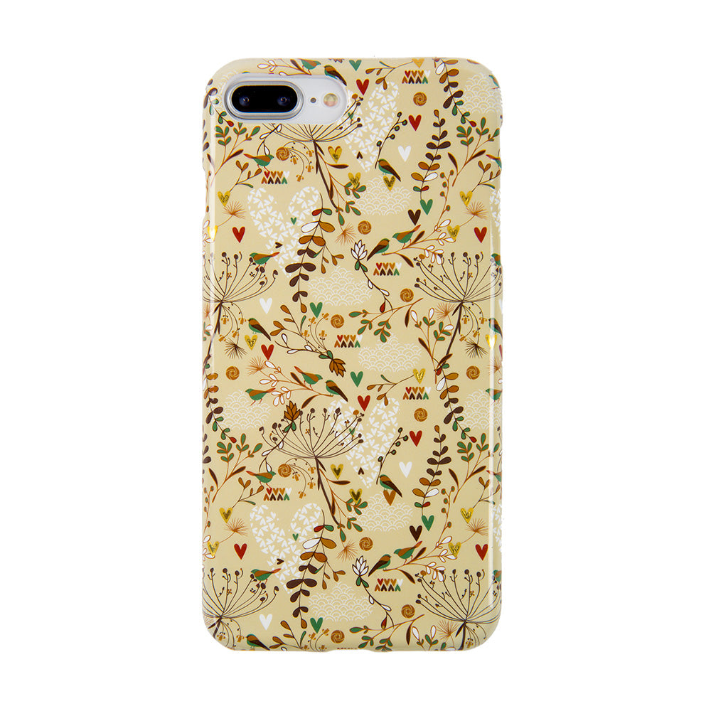 Soft TPU gold flower pattern with gold glitter iPhone 7+ Plus Case 5.5 inch 68f4fc45bbe2
