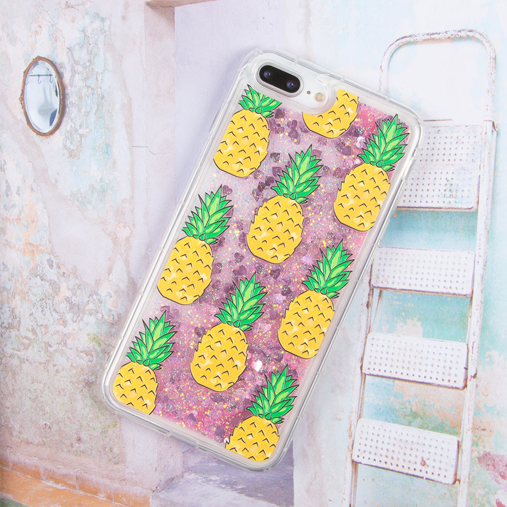 Glitter liquid shinning pineapple pattern iPhone 8+ Plus Case 5.5 inch