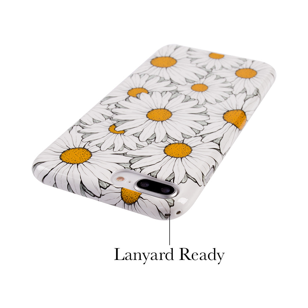 Chrysanthemum flower pattern soft TPU silicon iPhone 8 case