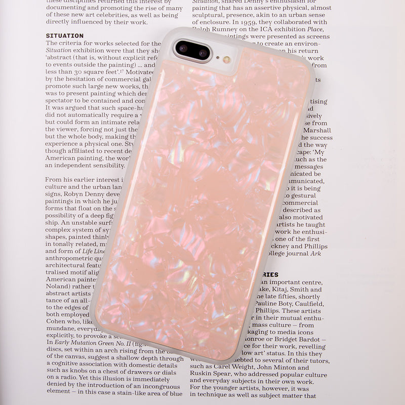 iicase-australia_Glitter White Pearl pattern soft TPU bumper fashion iPhone 6s case 4.7 inch