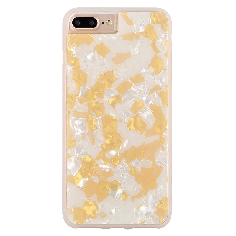Glitter White Pearl pattern soft TPU bumper fashion iPhone 7 case 4.7 inch