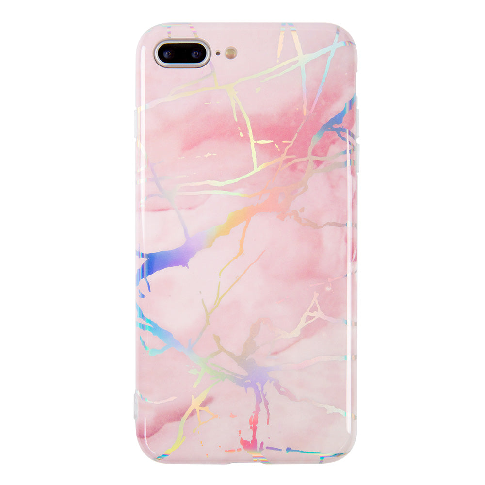Marble with laser flash glitter shinning iPhone 8 Case 4.7 inch