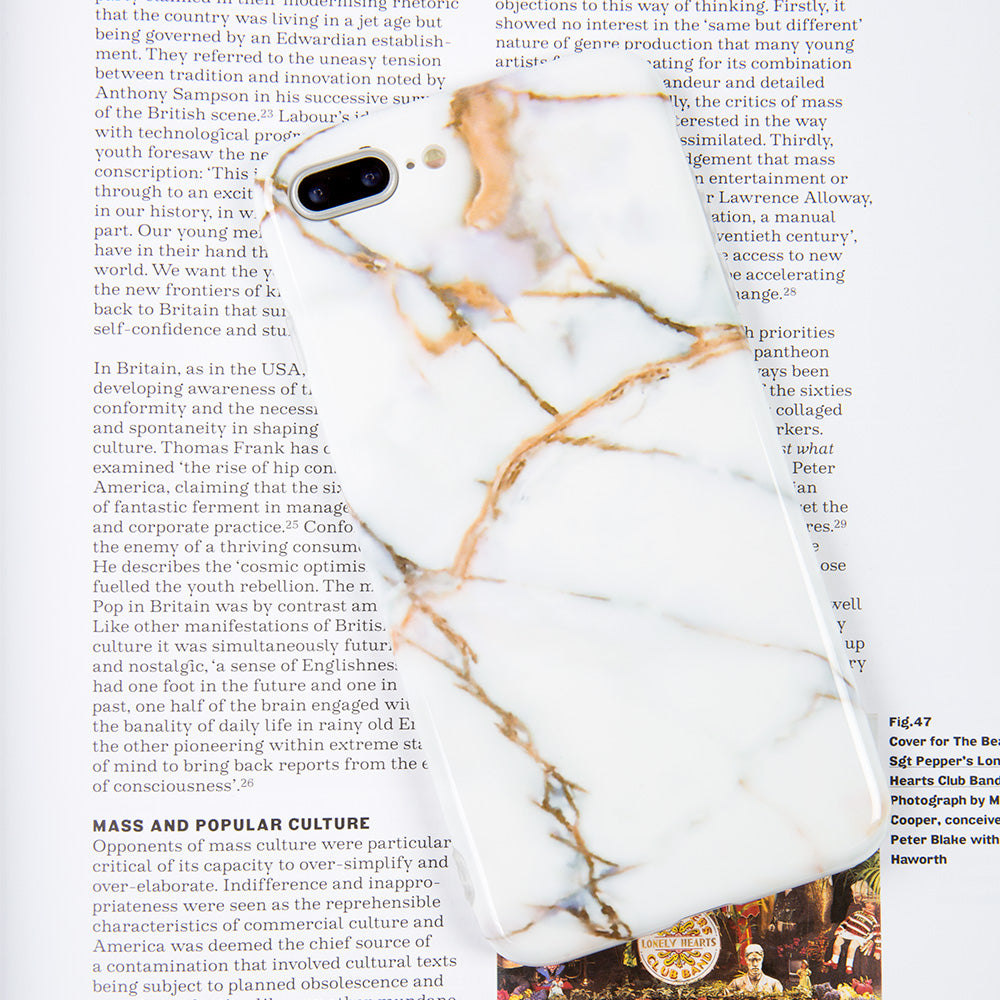 Simple Thin White Marble Stone Pattern iPhone 8 Case 4.7 inch