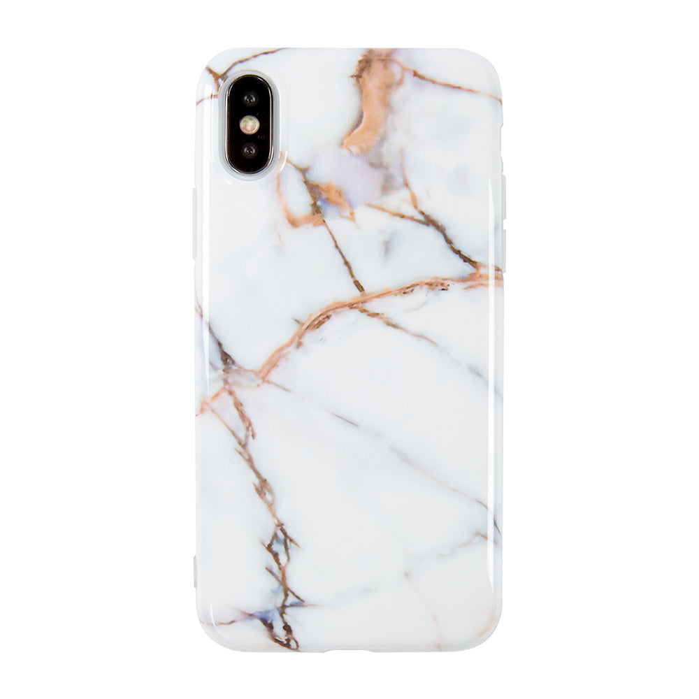 Simple Thin White Marble Stone Pattern iPhone X Case