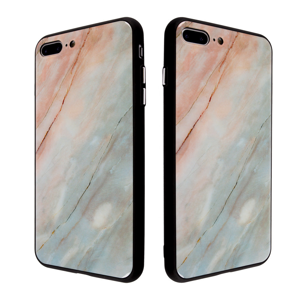 official photos 05894 a82b4 Tempered glass clear marble pattern ultra thin iPhone 7 Case 4.7 inch