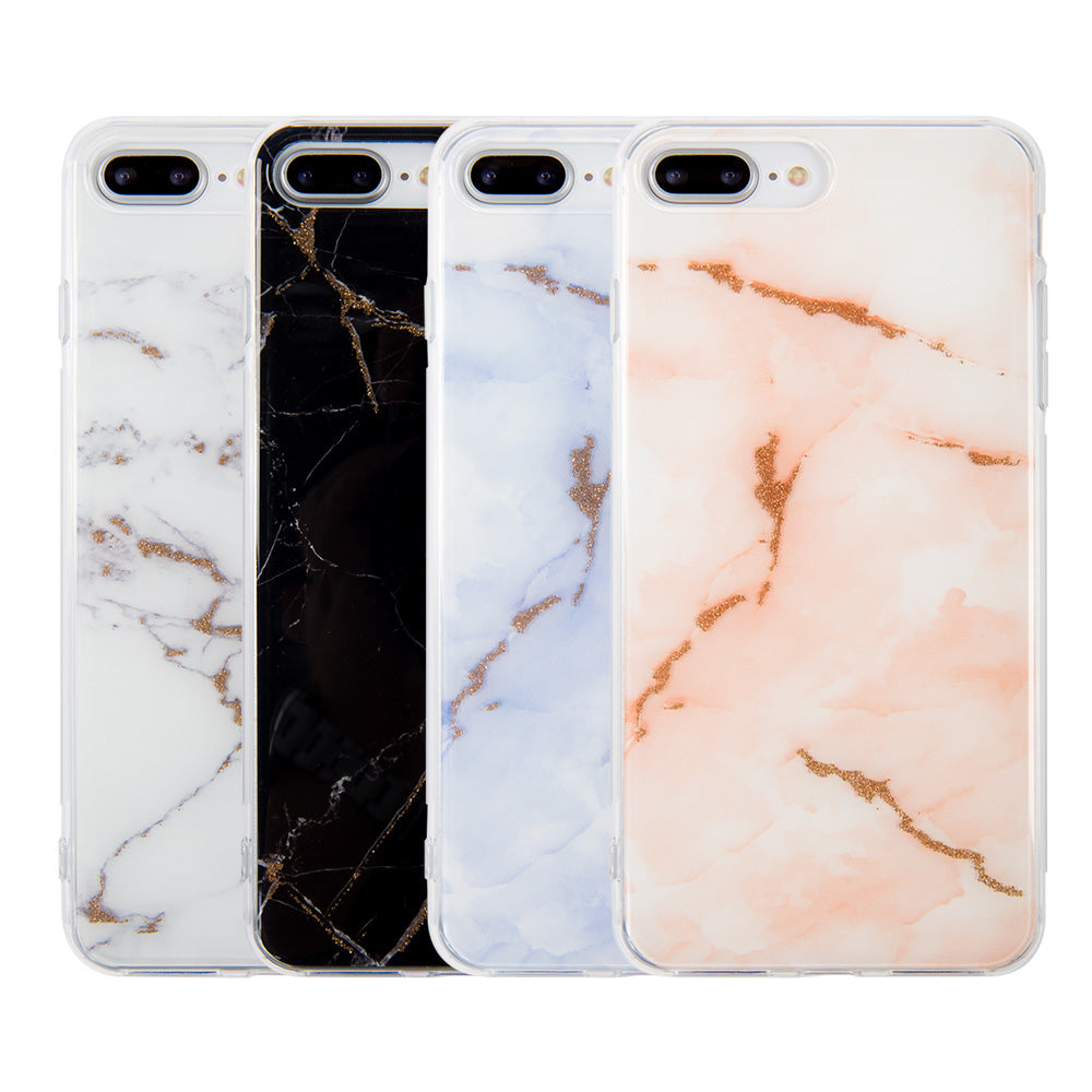 new styles c3971 20bc1 Marble Stone Pattern with Shining Glitter iPhone 7+ Plus Case 5.5 inch