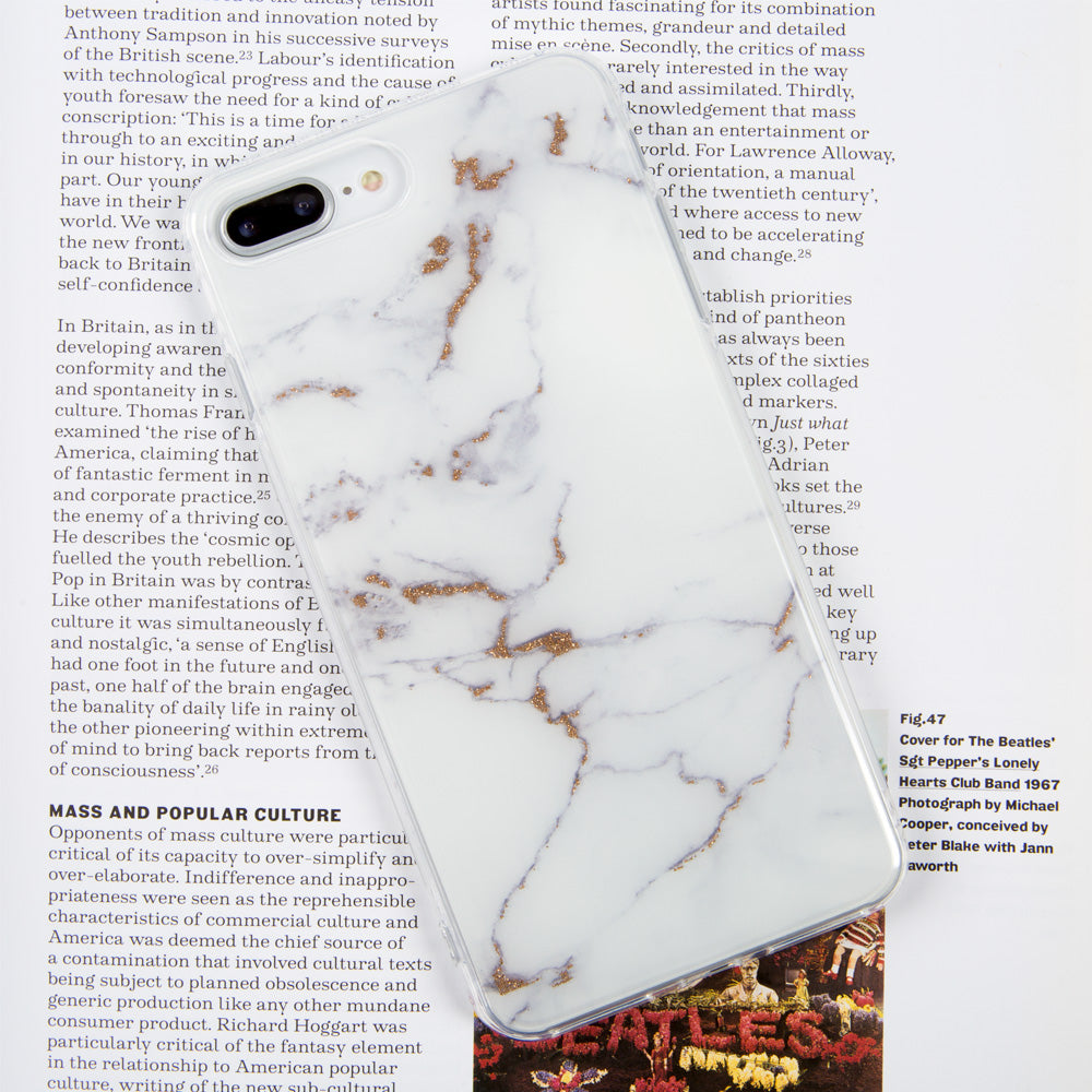 Marble Stone pattern with Shining Glitter iPhone 8 Case 4 7 inch
