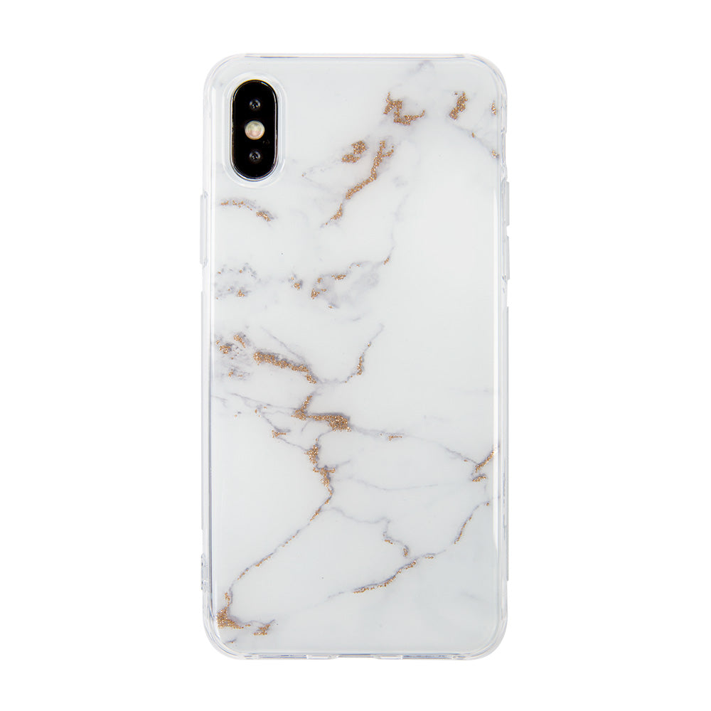 Marble Stone pattern with Shining Glitter iPhone X 10 case