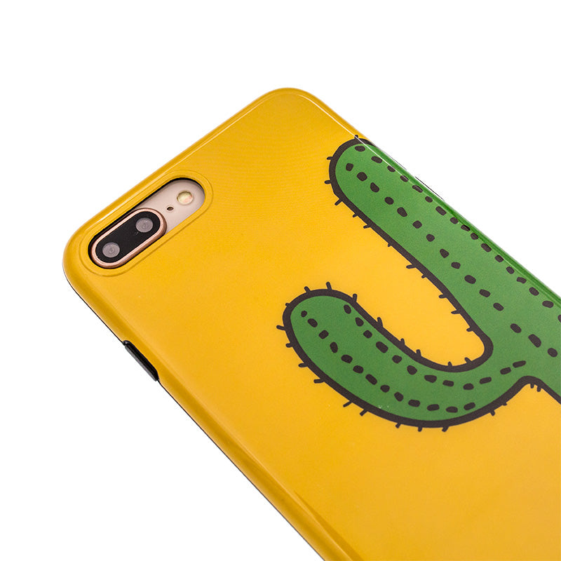 iicase-australia_Ultra slim simply yellow cactus soft TPU iPhone 7+ Plus Case 5.5 inch