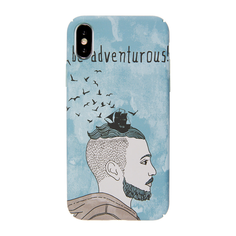 "Be Adventurous! ultra thin tough PC iPhone XS 5.8"" Case"