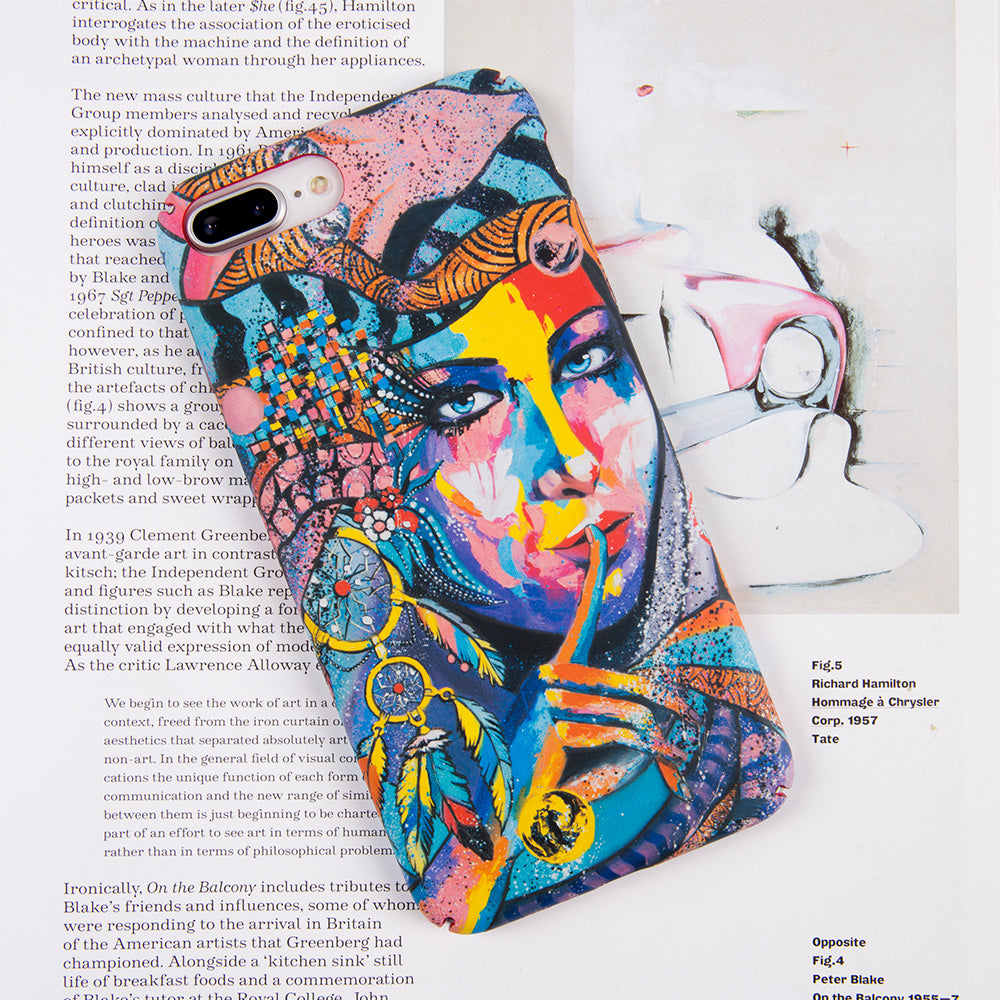 Colorful Indian girl ultra thin tough PC iPhone 7+ Plus Case 5.5 inch
