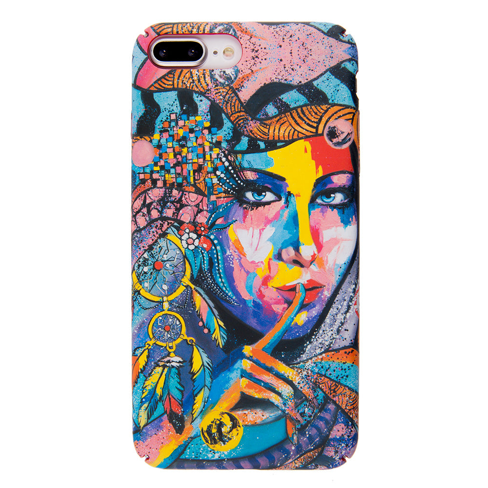 Colorful Indian girl ultra thin tough PC iPhone 8+ Plus Case 5.5 inch