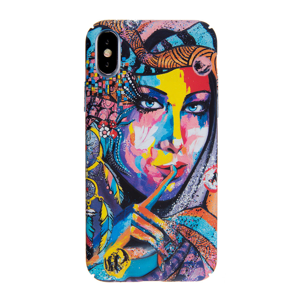 Colorful indian girl ultra thin tough PC iPhone XS Case 5.8""