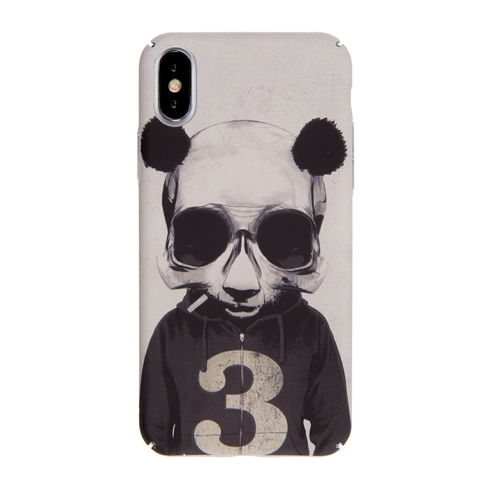 Cool Panda Man ultra thin tough PC iPhone XS Case 5.8""