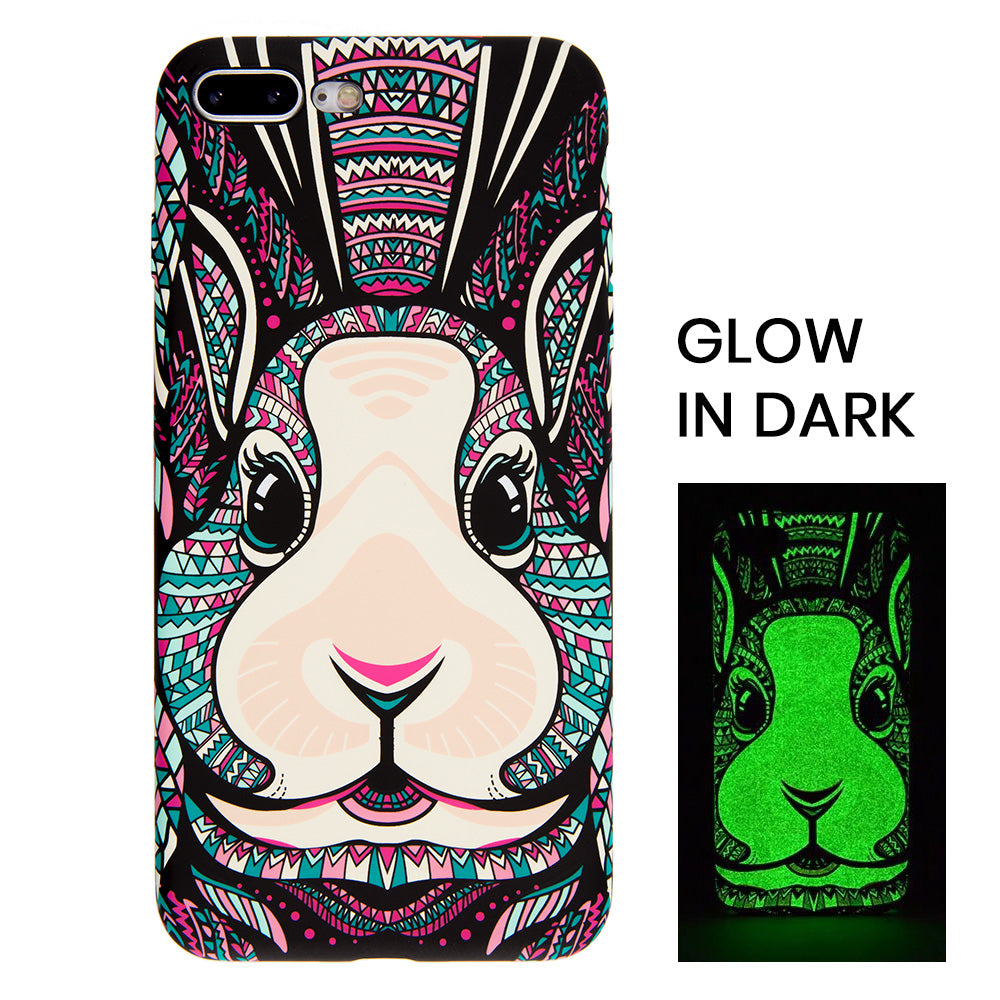 Cute luminous rabbit soft TPU protection iPhone 8 Case 4.7 inch