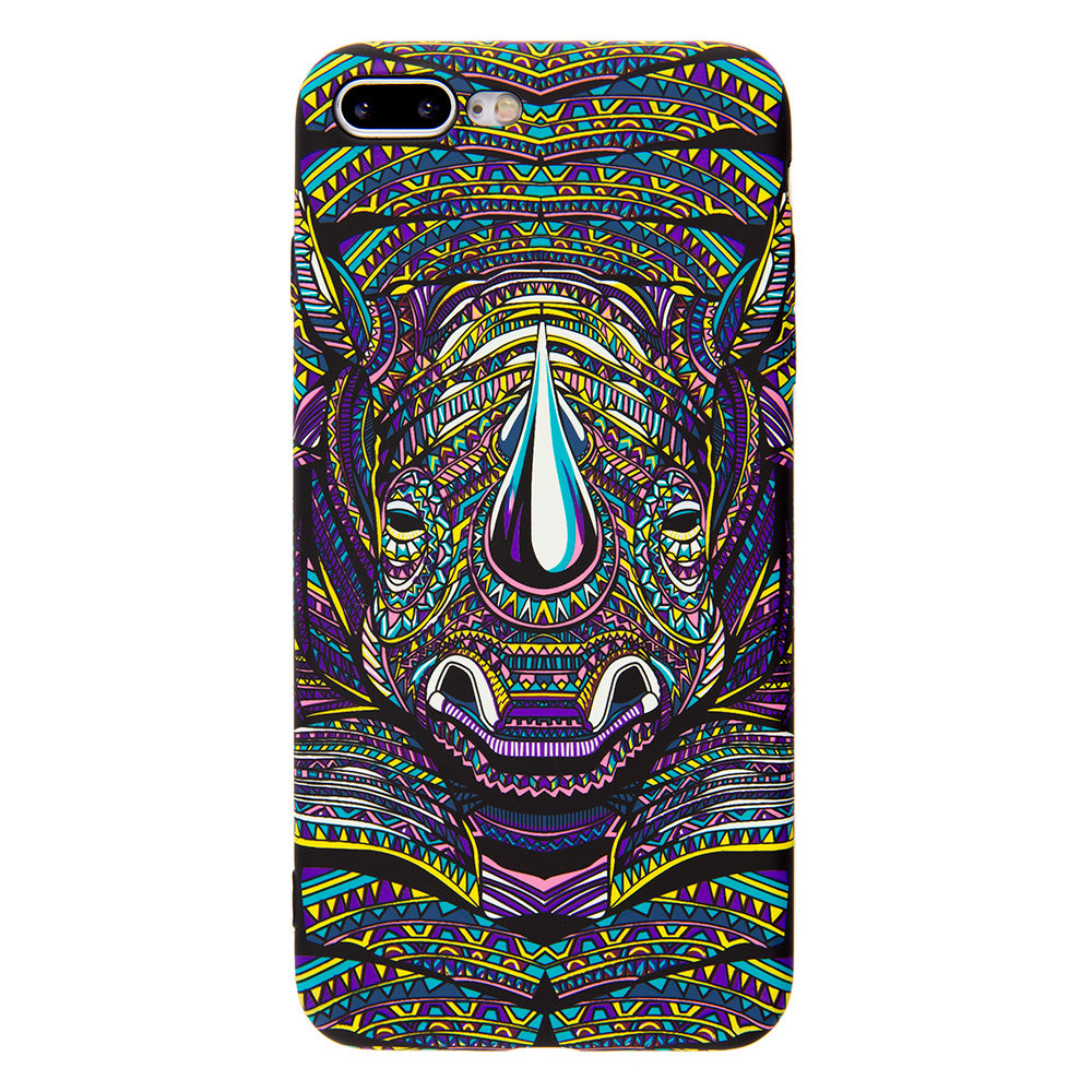 Luminous rhinoceros soft TPU protection iPhone 8 Case 4.7 inch