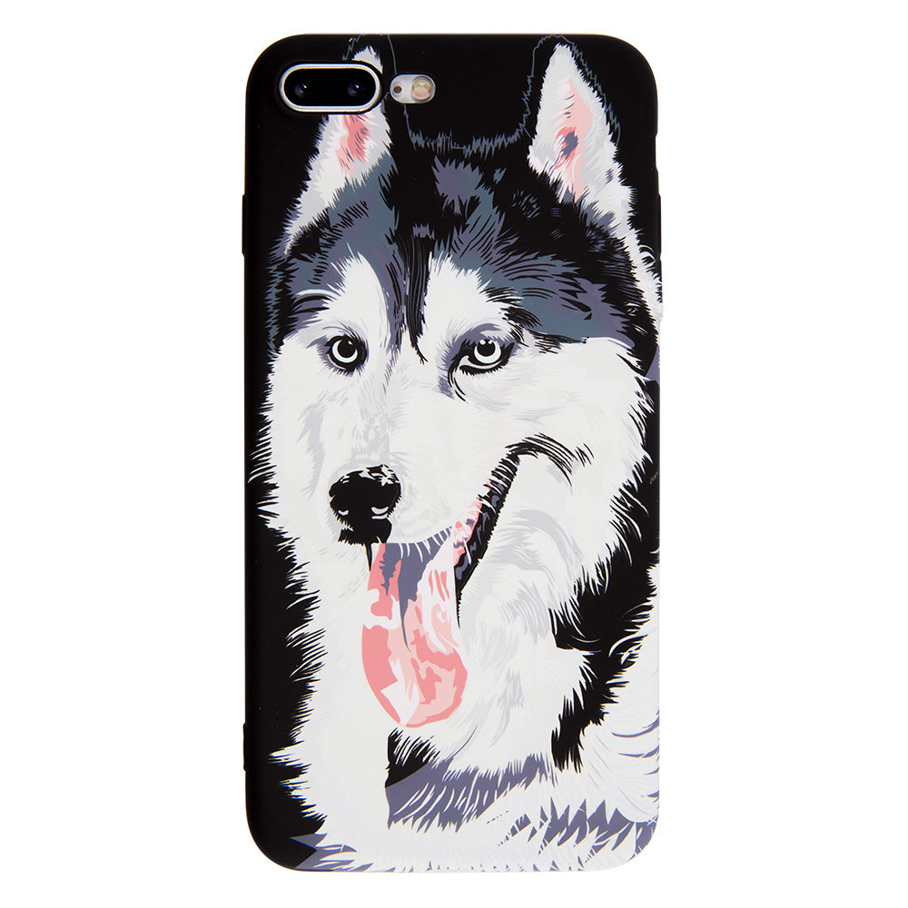 Luminous wolf soft TPU protection iPhone 6+ Plus Case 5.5 inch