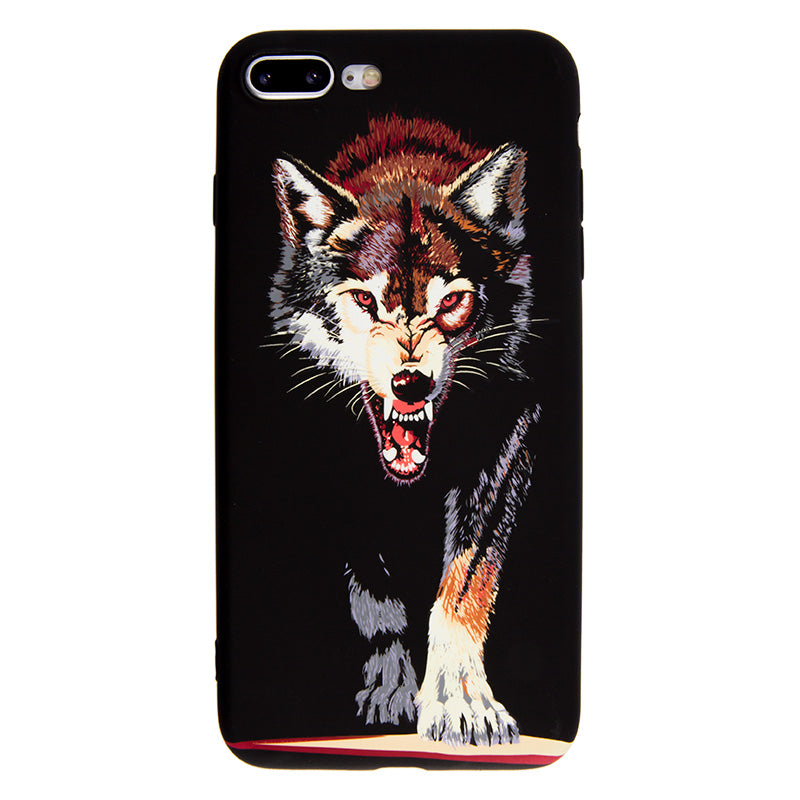 Luminous hungry wolf soft TPU protection iPhone 8+ Plus Case 5.5 inch