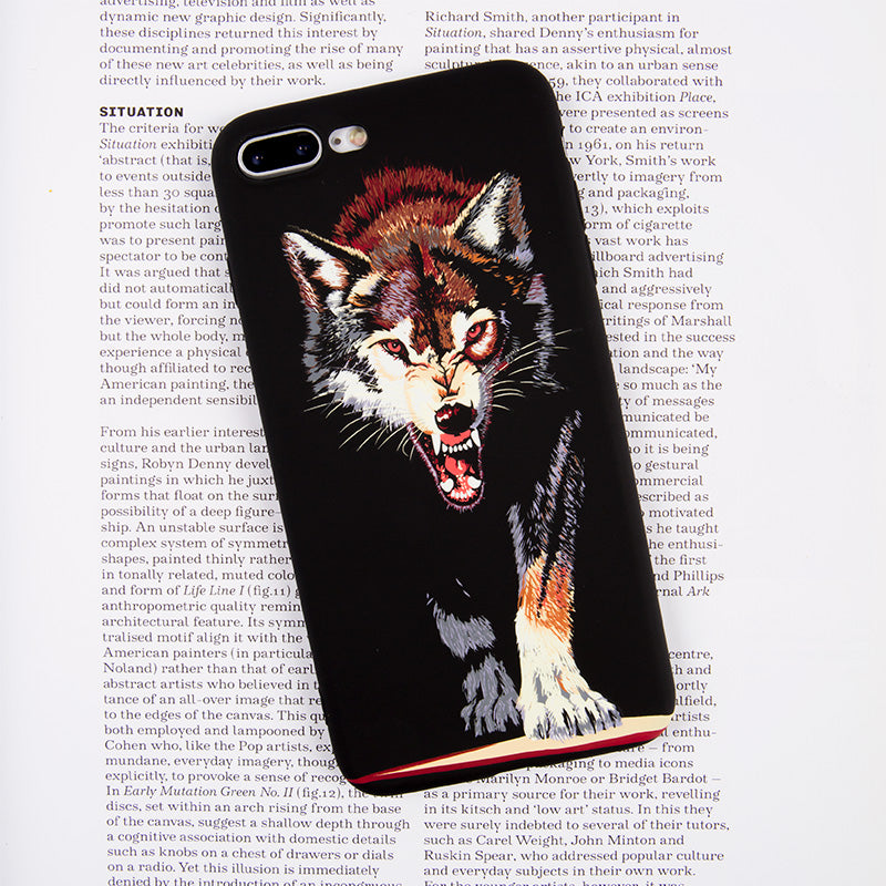 Luminous hungry wolf soft TPU protection iPhone 7 Case 4.7 inch