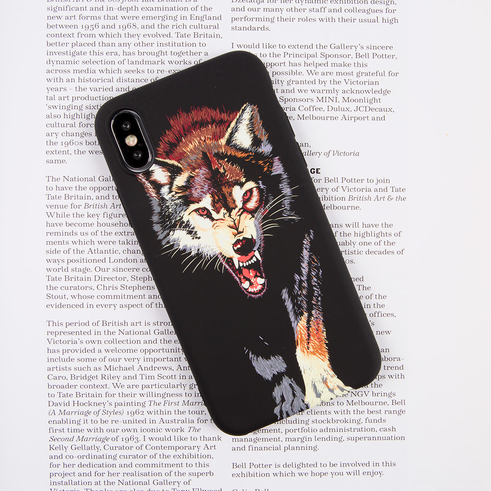 Luminous hungry wolf soft TPU protection iPhone X 10 Case