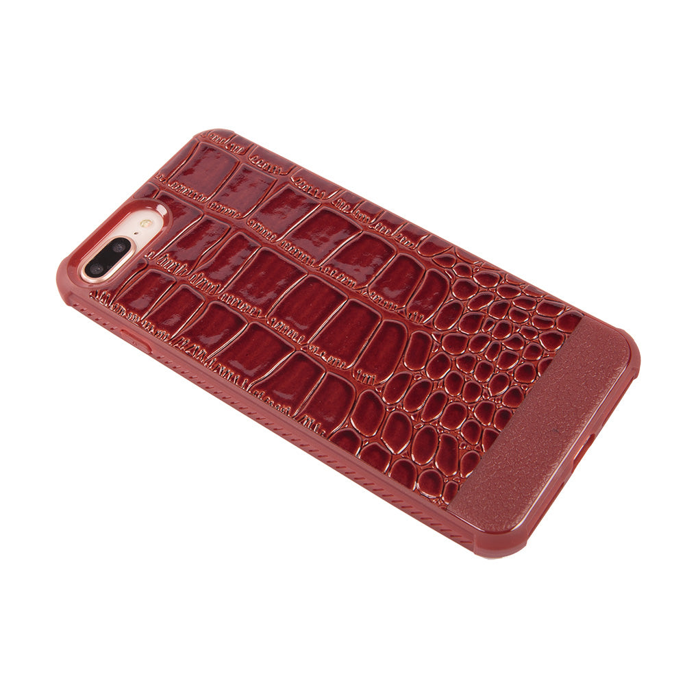 Crocodile skin style slim soft TPU protective iPhone 7+ Plus Case 5.5 inch