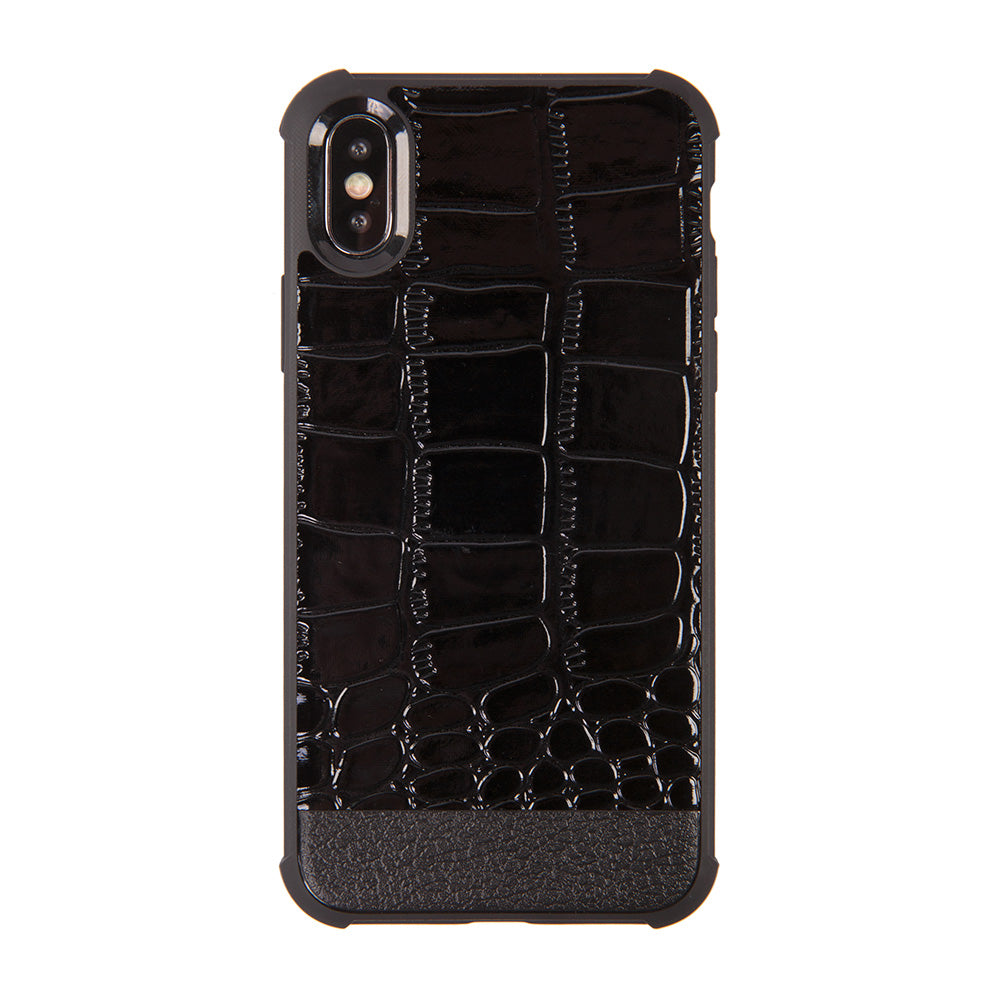 Crocodile skin style slim soft TPU protective iPhone XS Case 5.8""