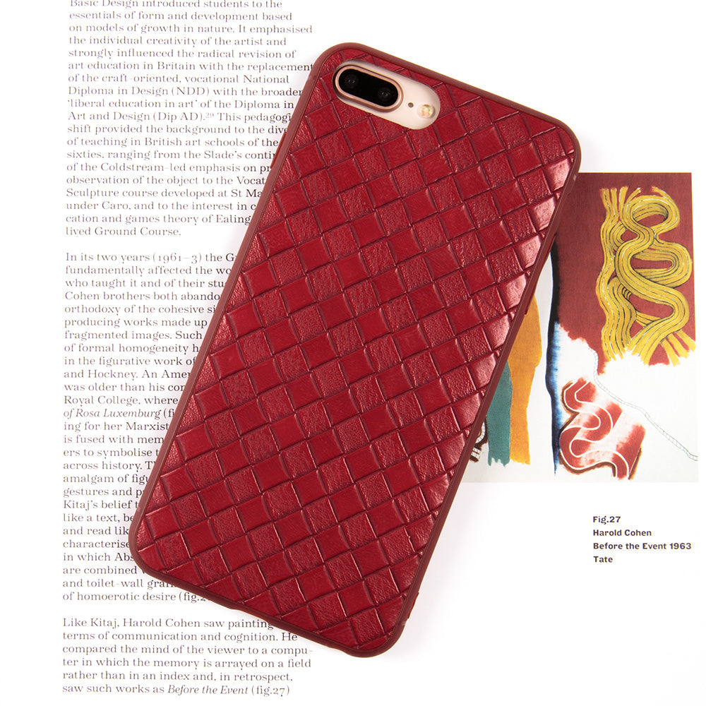 Slim weave leather business style protective iPhone 8 Case 4.7 inch