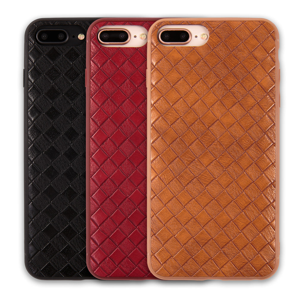 Slim weave leather business style protective iPhone 8+ Plus Case 5.5 inch