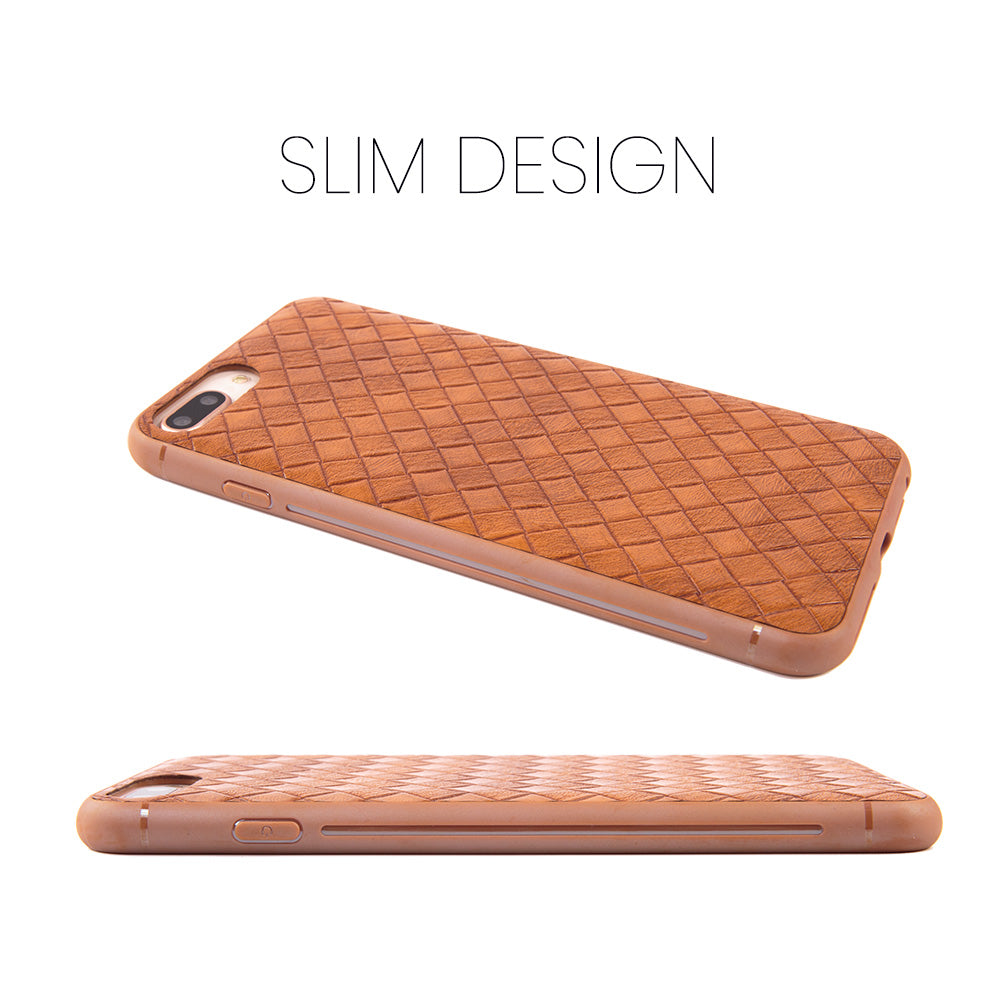 Slim weave leather business style protective iPhone 7+ Plus Case 5.5 inch