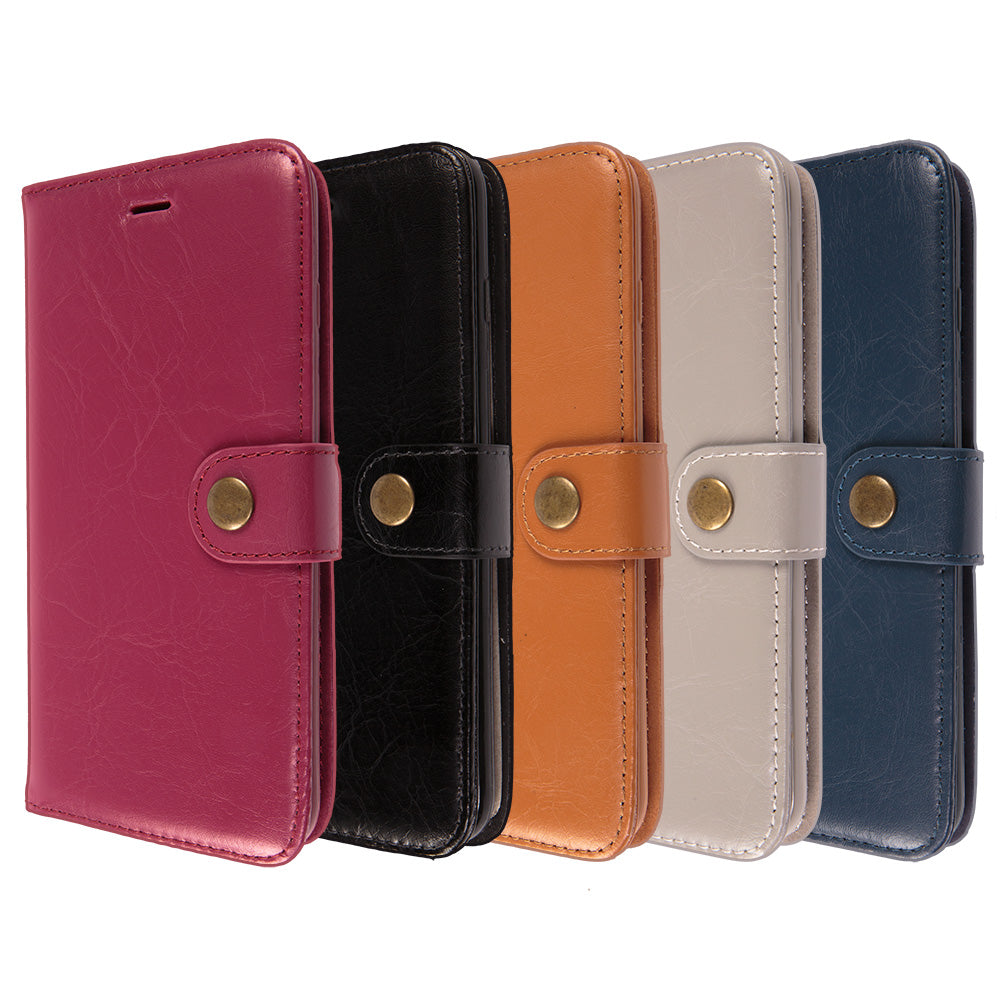 Detachable real leather magnet connected iPhone 8 case 4.7 inch