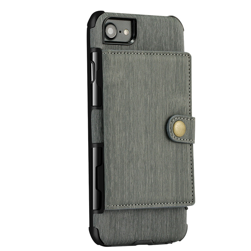 Designed leather back pocket with 3 card slots iPhone 6+ Plus Case 5.5 inch