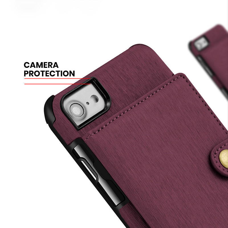 Designed leather back pocket with 3 card slots iPhone 6/6s Case