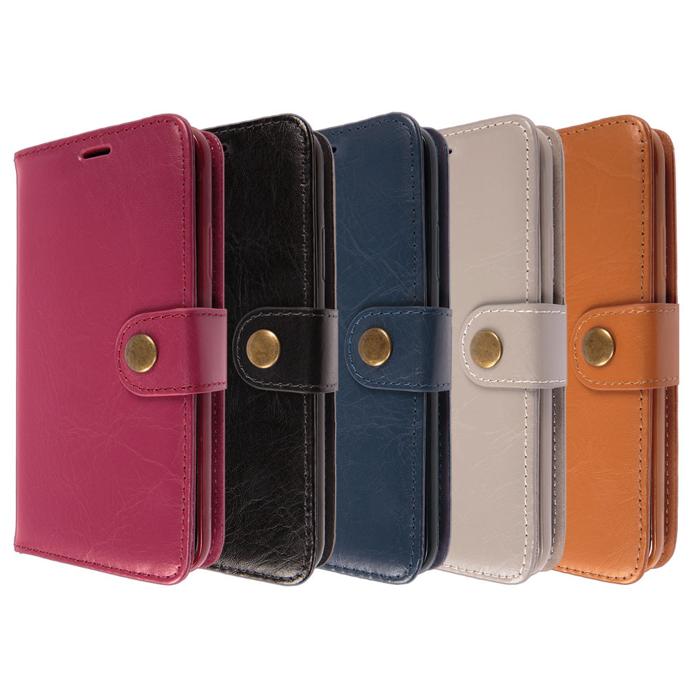 Detachable real leather magnet connected iPhone XS Case 5.8""
