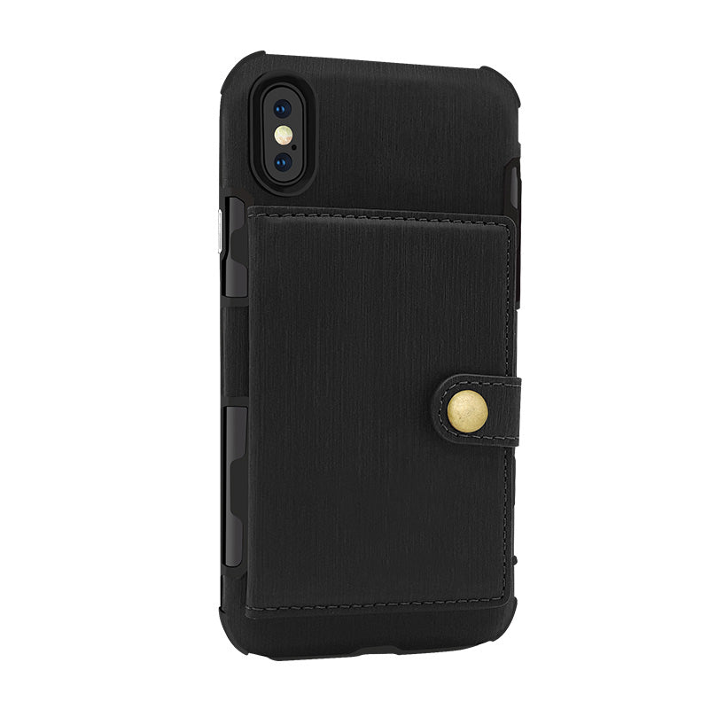 Designed leather back pocket with 3 card slots iPhone X/10 Case
