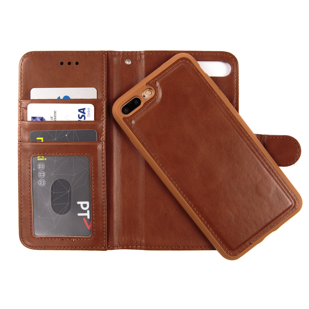 Leather detachable wallet case with card slots iPhone 7 Case 4.7 inch