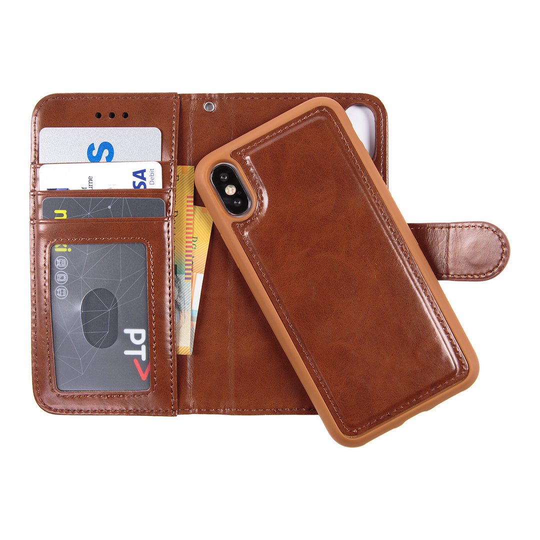 Leather detachable wallet case with card slots iPhone X/10 Case