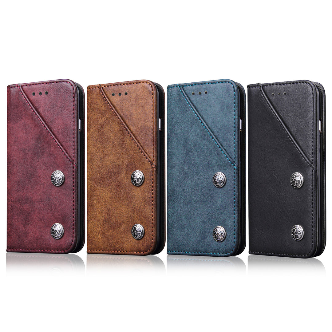 Genuine leather wallet with front pocket iPhone 7+ Plus Case 5.5 inch