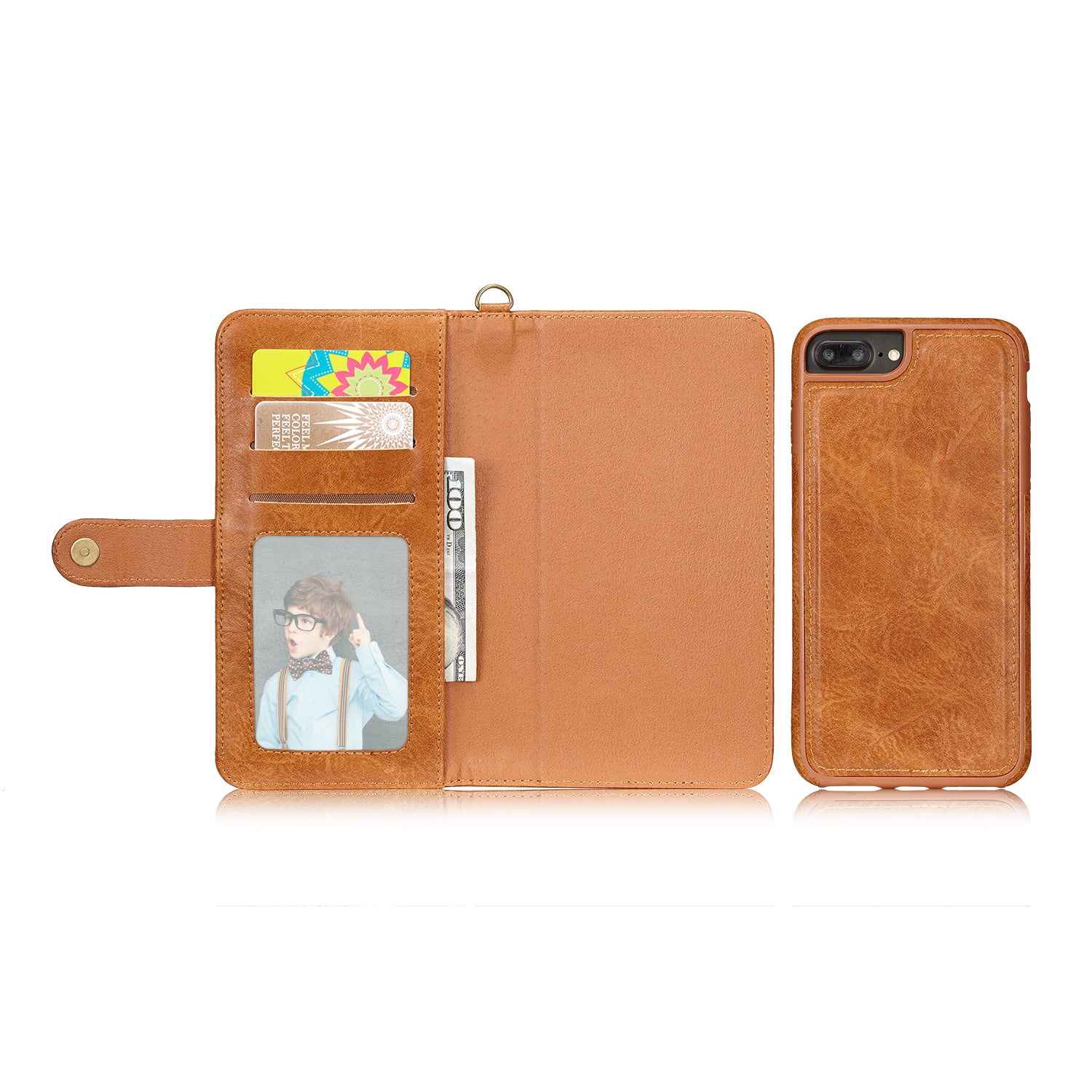 Genuine leather hand lance wallet 9 cards detached iPhone 7 Case 4.7 inch