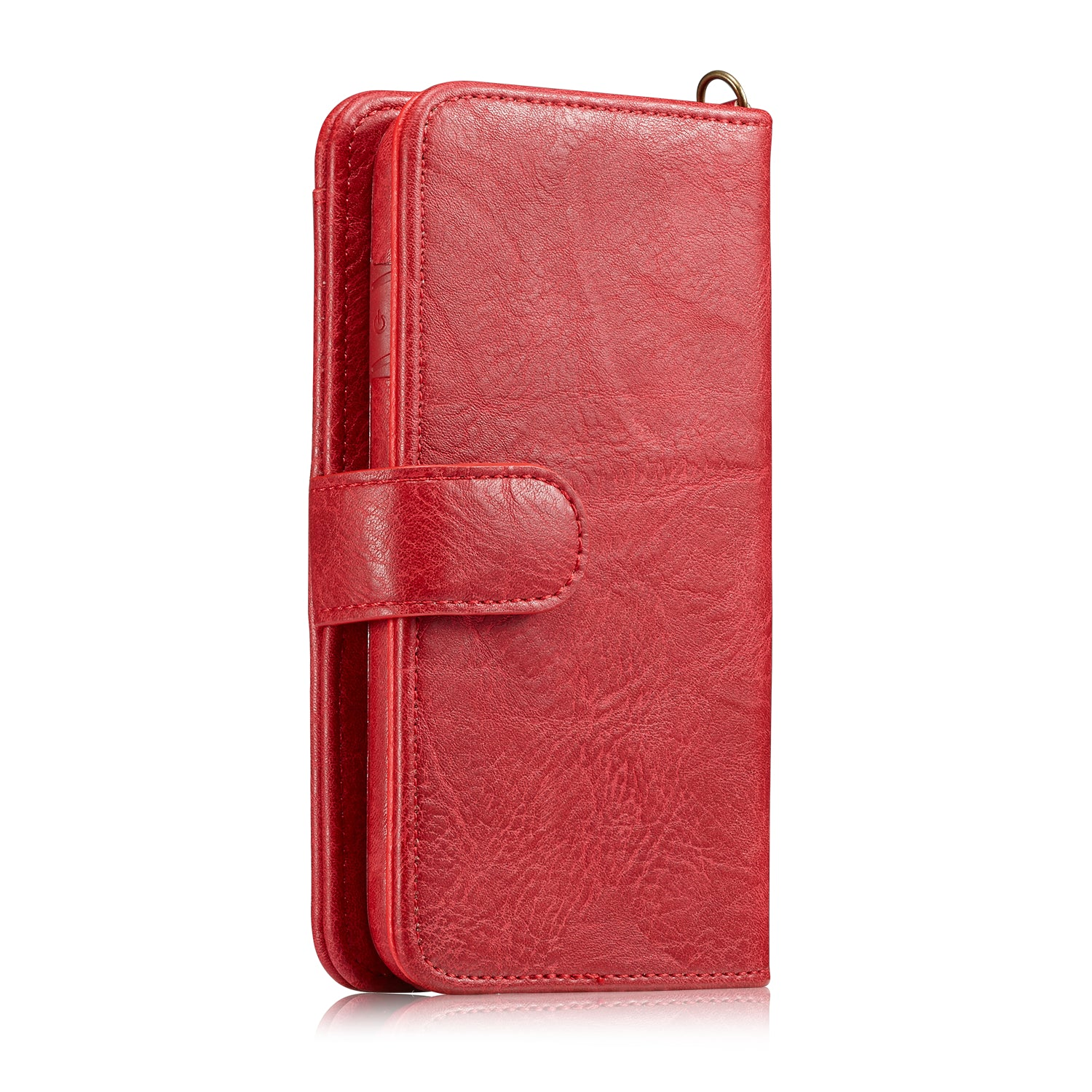 Genuine leather hand lance wallet 9 cards detached iPhone XS Case 5.8""