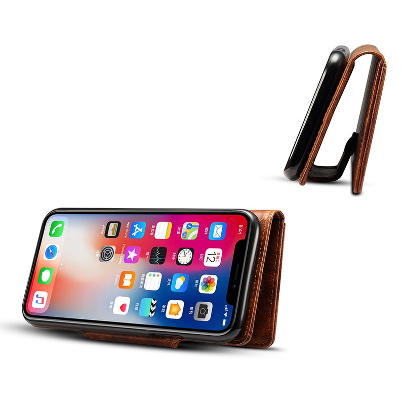 iicase-australia_Waxy style leather fashion folio wallet iPhone Case